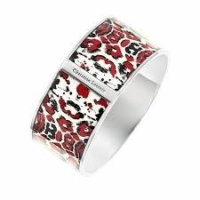 CLEARANCE SALE !!! Christian Lacroix Bracelet X16183WR fashion jewelry Panther Print Silver Cuff bangle designer Bracelet for women