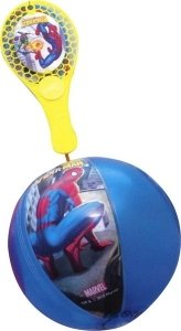 Set 10 Tap Ball Spiderman Ball 20 cm + Schläger