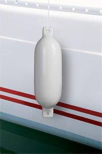 Set de 4 x Defensas para Barco Fender PVC 50 cm x /Ø14 cm 4 Unidades Blanco pro.tec