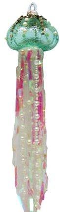 December Diamonds Glass Ornament - Jellyfish (Green)