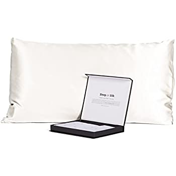 Fishers Finery Black Label Collection 100% Pure Mulberry Silk 30mm Pillowcase (Natural White, Queen)