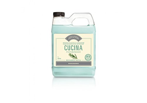 CUCINA Concentred Dish Detergent Refill 1L Rosemary and Card