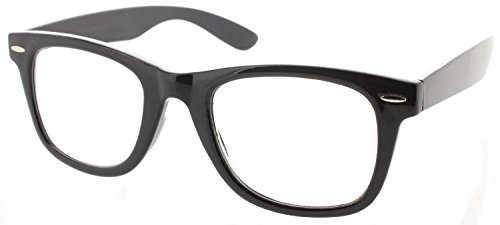Fiore Multi Focus Progressive Reading Glasses 3 Powers in 1 [Trendy - Black, 1.75] ()