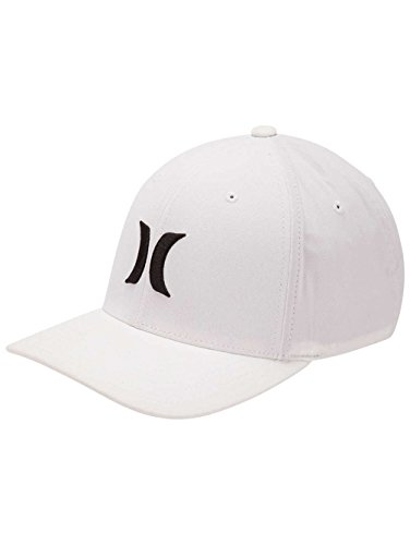 Hurley Dri-Fit One and Only Hat - White/Black - L/XL (White Hurley Hat)