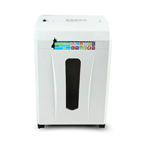 WHJ@ Cross Cut Paper and Credit Card Shredder Office Commercial High Power Data Shredder Mini Small A4 Waste Paper File Paper Machine Electric Household Portable (Best Cross Cut Shredder Uk)