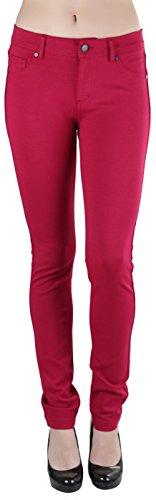 ToBeInStyle Womens 5-Pocket Skinny Fit Ponte Pants