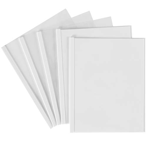 Avery Sliding Bar Clear Report Covers, Pack of 50 (47710) Clear Front Translucent Portfolios