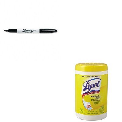 kitrac78849san30001-value-kit-lysol-brand-disinfecting-wipes-rac78849-and-sharpie-permanent-marker-s