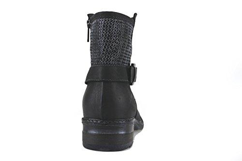 Donna Piu - Botas de Piel para mujer negro/plata