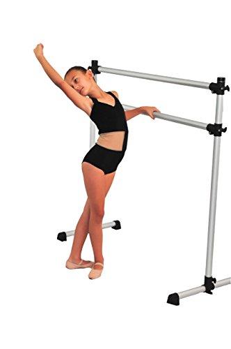 Portable Double Freestanding 4 foot Ballet Barre, Stretch/Dance Bar, 4 Feet Fitness Barre