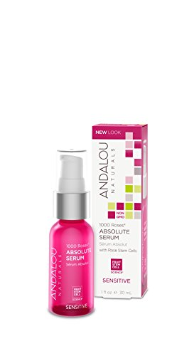 Thousand Roses (Andalou Naturals 1000 Roses Absolute Serum, 1 Ounce, For Sensitive, Dry, Delicate or Easily Irritated Skin, Soothes & Calms)