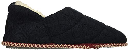 Knit Bootie Peacoat Slipper Cable Dearfoams Women's Quilted pq6ttI