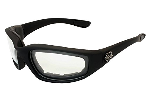 Choppers Foam Padded Clear Lens Motorcycle - Sunglasses Davidson