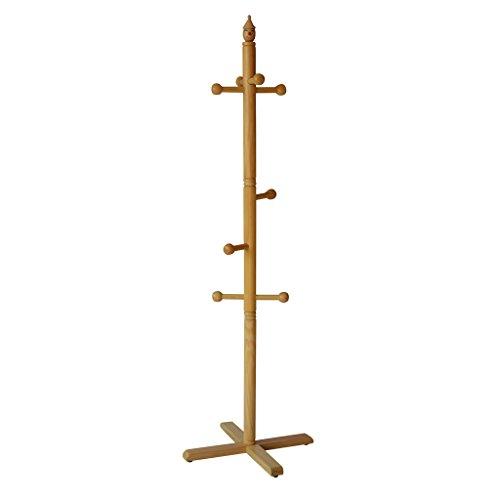 Amazon.com: XF - Perchero de madera maciza con gancho para ...