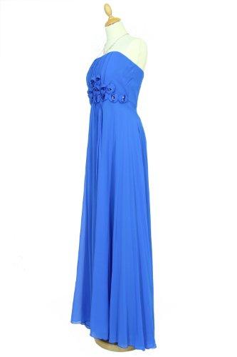 KAJ Moden - Vestido - Top corto - para mujer Azul