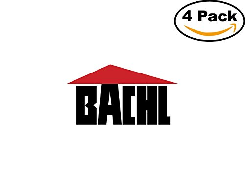 Bachl 28422 4 Stickers 4X4 inches Car Bumper Window Sticker Decal