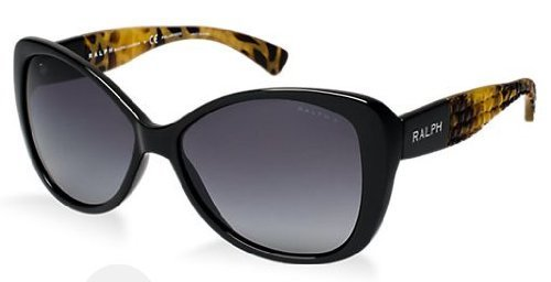 Ralph Womens Sunglasses (RA5180) Black/Grey Plastic - Polarized - - Shades Ralph Lauren