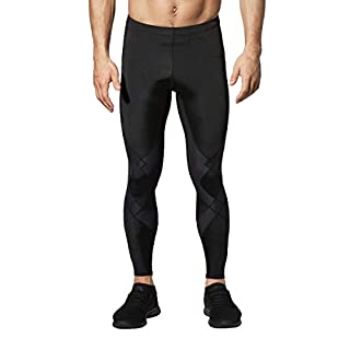 CW-X Men's Stabilyx Joint Support Compression Sports Tights, Black, Small