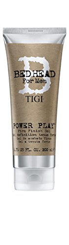 TIGI Bed Head for Men Power Play Firm Finish Gel, 6.76 Fluid Ounce