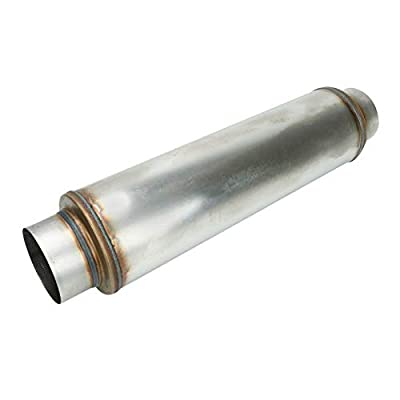 """EASYBERG Exhaust Resonator 5"""" Inlet 5"""" Outlet High Performance Muffler 18"""" inch Overal Stainless Steel Straight Through: Automotive"""