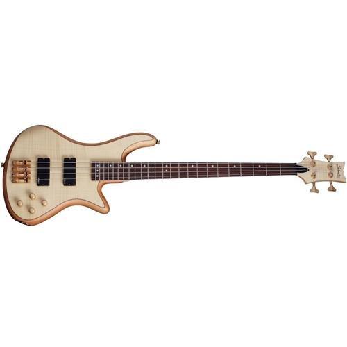 Schecter Stiletto Custom-4 Electric Bass (4 String, Natural Satin) (9 String Guitar Schecter)