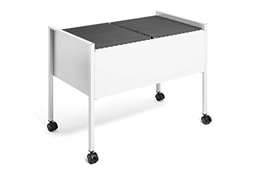 Suspension Filing Trolley - Durable ECO Suspension File Trolley for 100 A4 - Grey Black/Silver by Durable