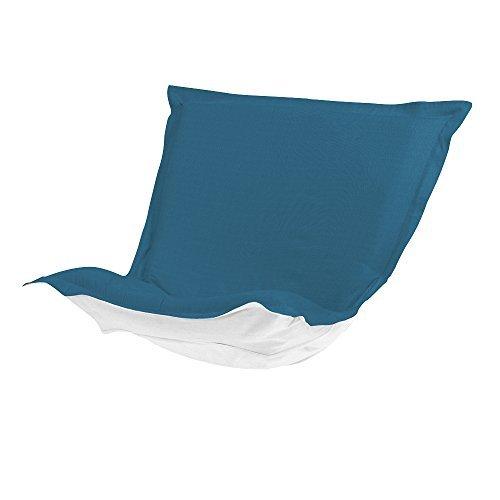 Howard Elliott Q300-298P Puff Patio Chair Cushion, Seascape Turquoise