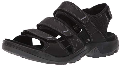 ECCO Men's Yucatan 4Strap outdoor offroad hiking sandal, black multi-strap, 11-11.5 M US ()