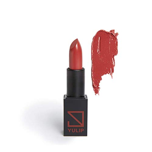 BRICK RED COLOR NATURAL LIPSTICK:#MLBB color Non-Toxic, Cruelty-free, gluten-free, paraben & lead free,fragrance-free, Korean beauty makeup by YULIP Gift from Nature LIPSTICK ANGRY ROSE...