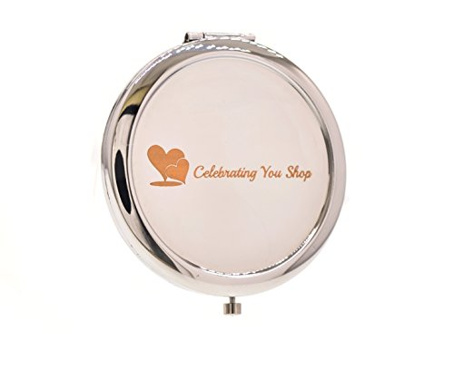 Crystal Bridal Clutch Formal Evening Bag Gold & Silver Compact Mirror Wedding Party Gift Set by Celebrating You Shop (Image #4)