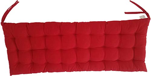 "Cottone 100% Cotton Chair Pads w/Ties| 40"" x 16"" Bench Cushion 