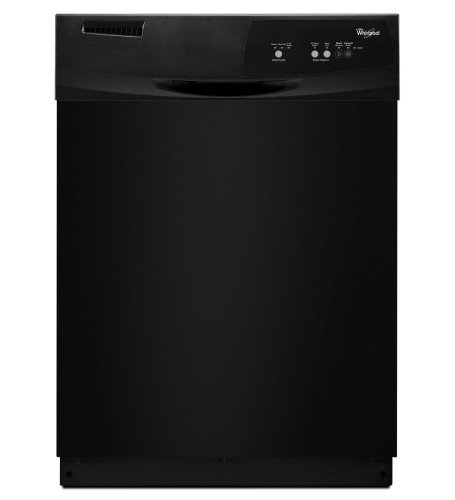 "Price comparison product image WHIRLPOOL GIDDS-293411 Tall Tub Built-In 24"" Dishwasher With Front Controls,  Black,  3 Cycles / 2 Options"