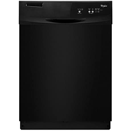 WHIRLPOOL GIDDS 293411 Tall Tub Built In 24 Dishwasher With Front Controls Black 3 Cycles 2 Options