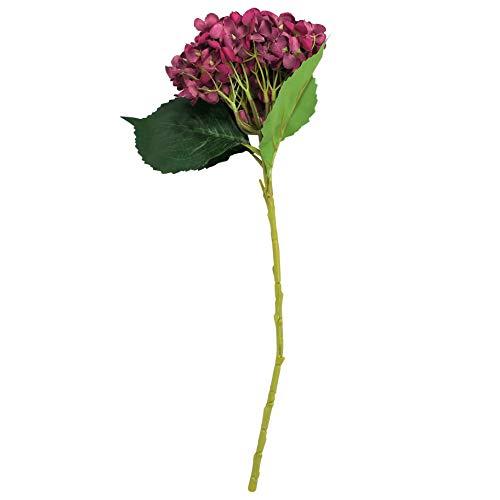 EZFLOWERY-5-Pcs-Artificial-Silk-Hydrangeas-Flowers-Bouquet-Arrangement-for-Home-Decor-Wedding-Office-Room-Hotel-Event-Party-Decoration-Violet-Red