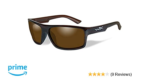 207bab96c6 Amazon.com  Wiley X WX Peak Polarized Amber Lens Gloss Layered Tortoise  Frame  Sports   Outdoors