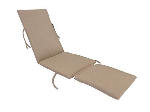 kingrattan.com Made in USA Steamer Chair Cushion Sunbrella Canvas Heather - Solution Acrylic 100% Dyed