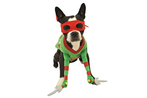 Ninja Turtles Dog Costumes (Silver Paw Teenage Mutant Ninja Turtles Raphael Red Reality Dog Costume, Extra Large)