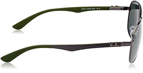 Marco N5 004 Gris Ray Ban Verde Gunmetal Sonnenbrille Polarizado Clásico RB CARBON Lente FIBRE Verde 8313 Multicolor USxTq4w0x