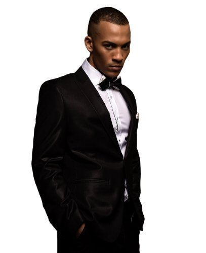 Knot Theory Black and White Diamond Point Bow Tie 6-Way Self Tie James Bond