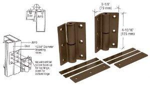 CRL Bronze Anodized Universal Storefront Door Hinge - DL1099DU