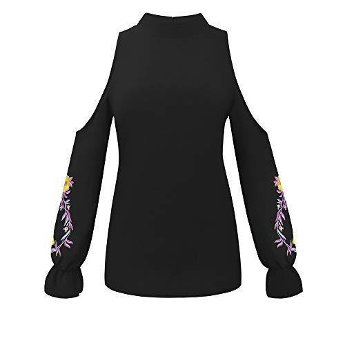 Chic Shirt Hauts T Kangrunmy Lanterne Chemisier Femme Mode Swing Casual Fluide Broderie Taille Blouse Noir Sweat IrrGulier Grande Tops Unie Manchon Chemise Sweatshirt Longues Tunique Couleur R0n5qnSHx1