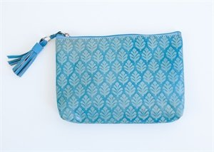 Medium Neem Clutch Turquoise, Bags Central