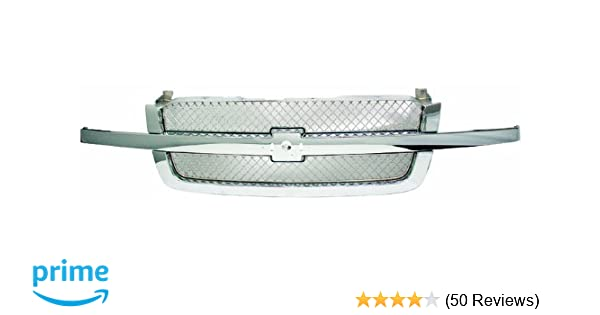 Partslink Number GM1200474 OE Replacement Chevrolet Silverado Pickup Driver Side Grille Assembly