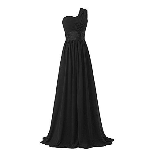 black one strap bridesmaid dresses - 8