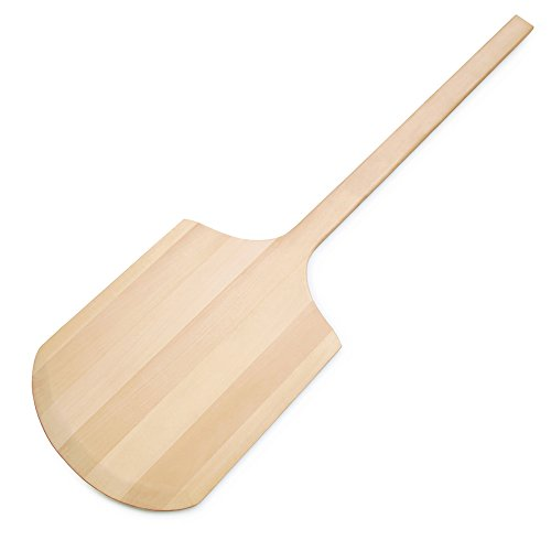 New Star Foodservice 50257 Wooden Pizza Peel, 12 x 16 inch B