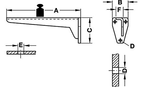 Gedotec Winkel-Schwerlasttr/äger Metall Regaltr/äger Schwerlast-Konsole Tragkraft 150 kg Wandkonsole f/ür Regalb/öden Tiefe: 200 mm Regalkonsole Stahl grau Materialst/ärke 6 mm MIRA 1 St/ück