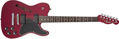 - Fender Jim Adkins Signature Series JA-90 Telecaster Thinline - Laurel Fingerboard - Crimson Red Transparent