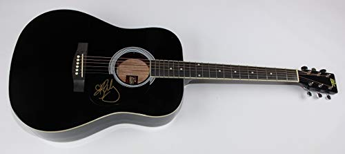 Kelly Clarkson Breakaway Since You Been Gone Signed Autographed Black Full Size Acoustic Guitar Loa