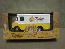 (Borden's Ice Cream Truck Die-cast Metal Bank)