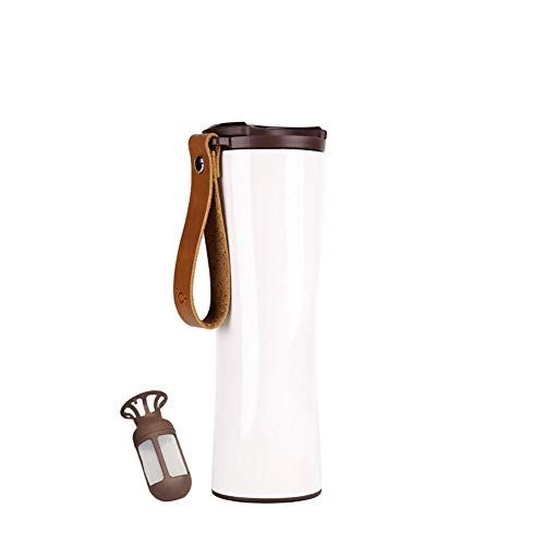 UIFIRST Intelligent Water Bottle Portable Thermal Vacuum Water Cup for Indoor Outdoor Use,White by UIFIRST